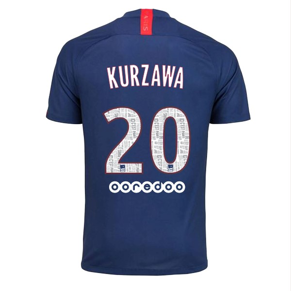 Camiseta Paris Saint Germain NO.20 Kurzawa Primera 2019/2020 Azul