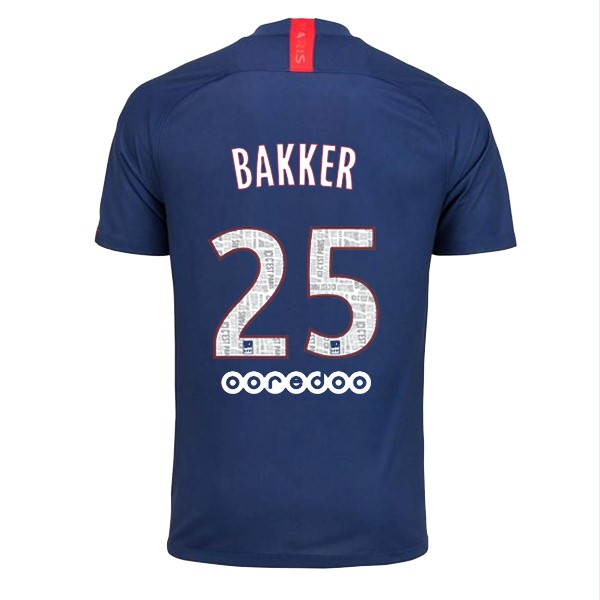 Camiseta Paris Saint Germain NO.25 Bakker Primera 2019/2020 Azul
